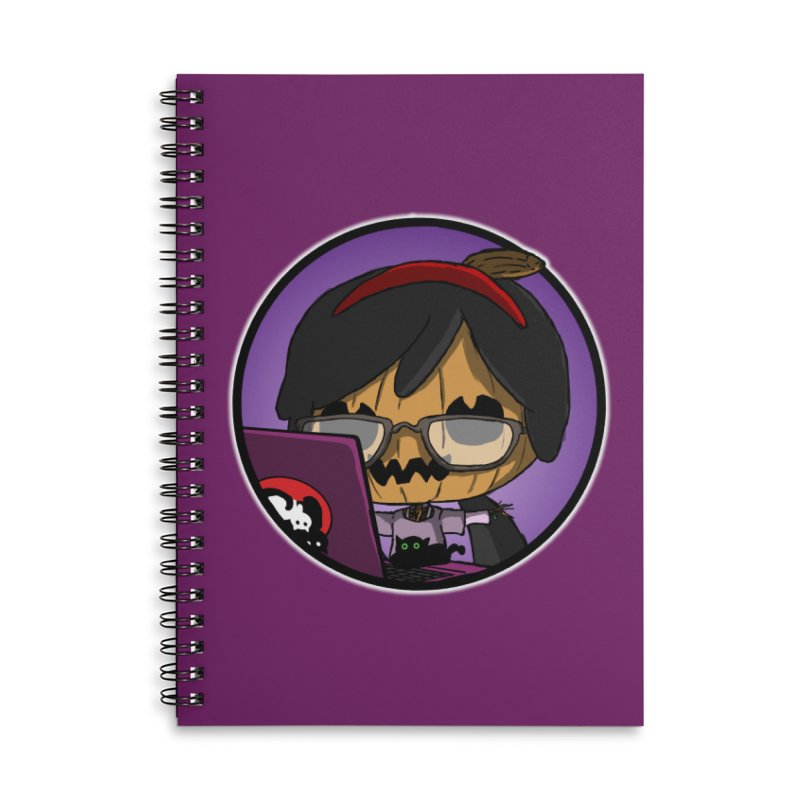 Halloweenie Accessories Lined Spiral Notebook by danburley's Artist Shop