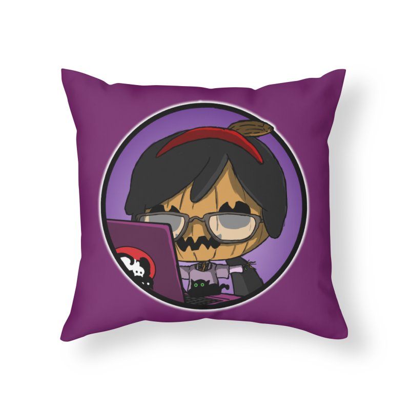 Halloweenie Home Throw Pillow by danburley's Artist Shop