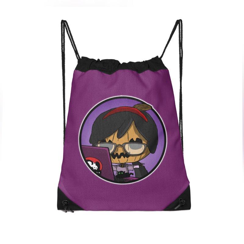 Halloweenie Accessories Drawstring Bag Bag by danburley's Artist Shop