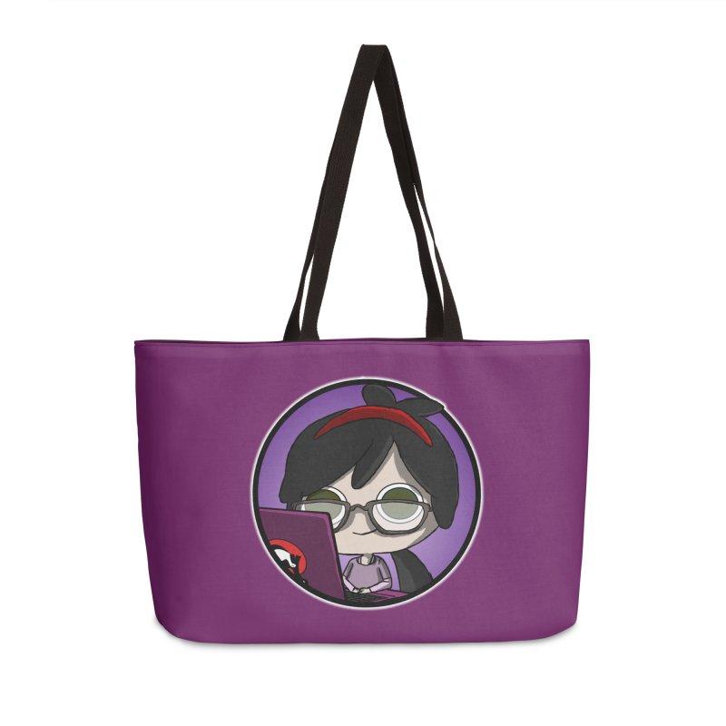 Blogging, man! Accessories Weekender Bag Bag by danburley's Artist Shop