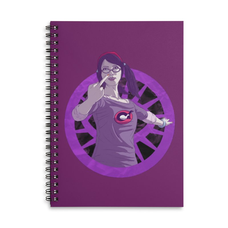Elizabeth Harper (Teenage Female) Accessories Lined Spiral Notebook by danburley's Artist Shop