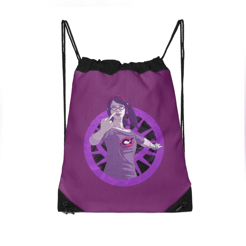Elizabeth Harper (Teenage Female) Accessories Drawstring Bag Bag by danburley's Artist Shop