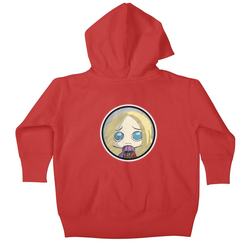 Robyn (Reaching Out) Kids Baby Zip-Up Hoody by danburley's Artist Shop