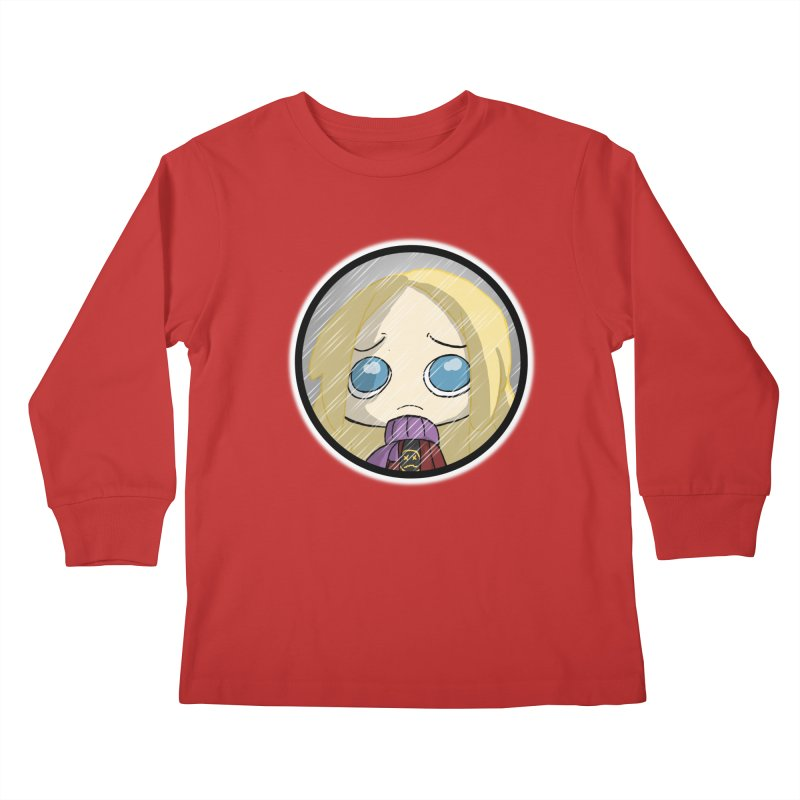 Robyn (Reaching Out) Kids Longsleeve T-Shirt by danburley's Artist Shop