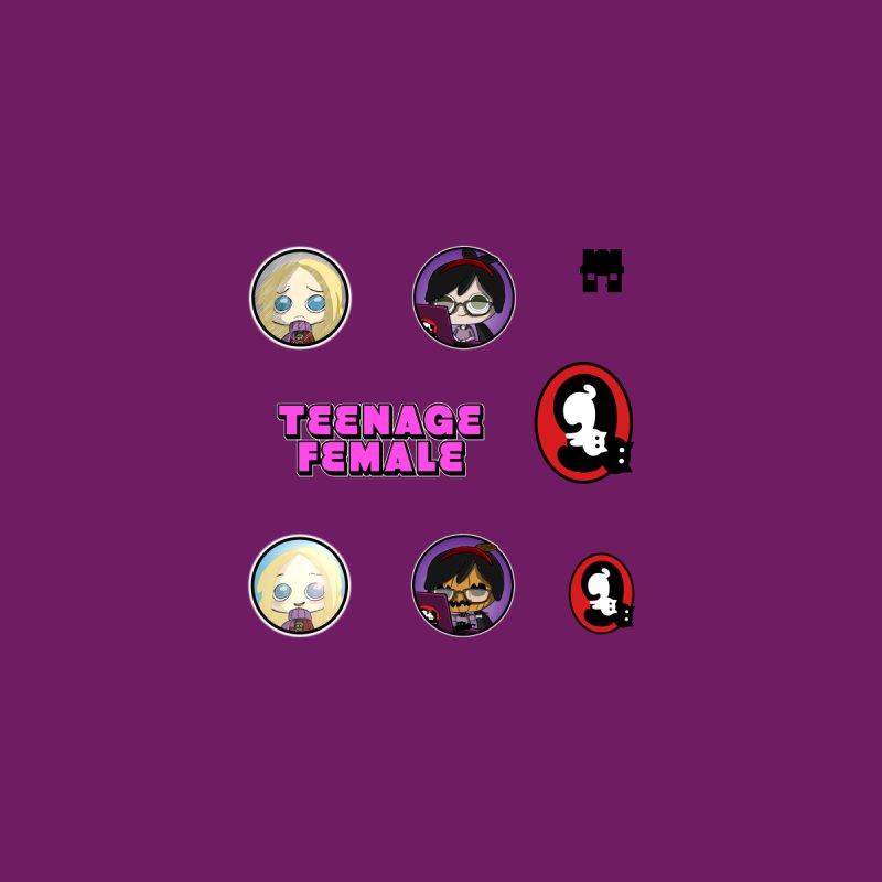 Teenage Female (Sticker Sheet 1) by danburley's Artist Shop