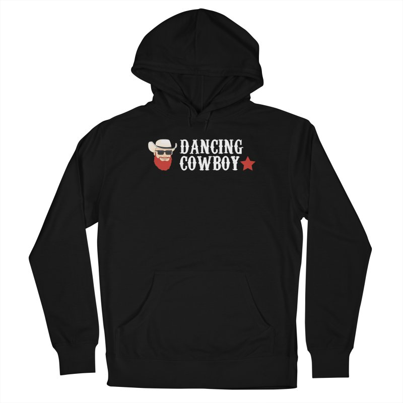 Dancing Cowboy Logo in Men's French Terry Pullover Hoody Black by Dancing Cowboy Gear