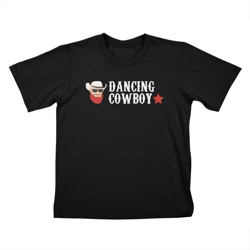 Dancing Cowboy Logo in Kids T-Shirt Black by Dancing Cowboy Gear
