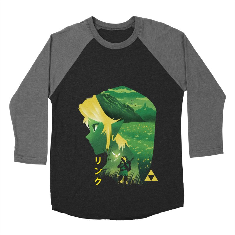Hyrule Hero Men's Baseball Triblend Longsleeve T-Shirt by dandingeroz's Artist Shop