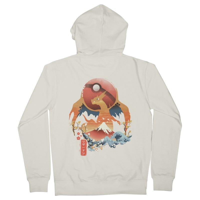 Flame Ninja Men's French Terry Zip-Up Hoody by dandingeroz's Artist Shop