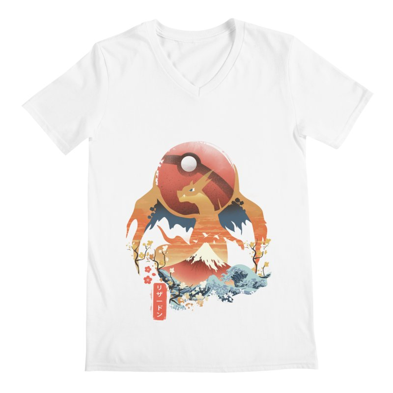 Flame Ninja Men's Regular V-Neck by dandingeroz's Artist Shop