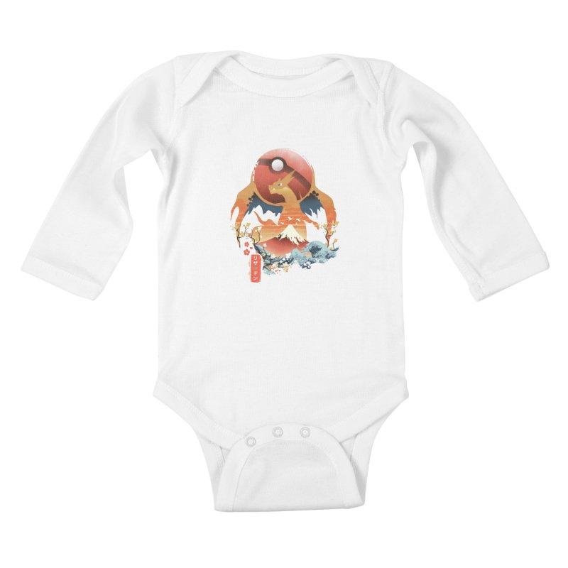 Flame Ninja Kids Baby Longsleeve Bodysuit by dandingeroz's Artist Shop