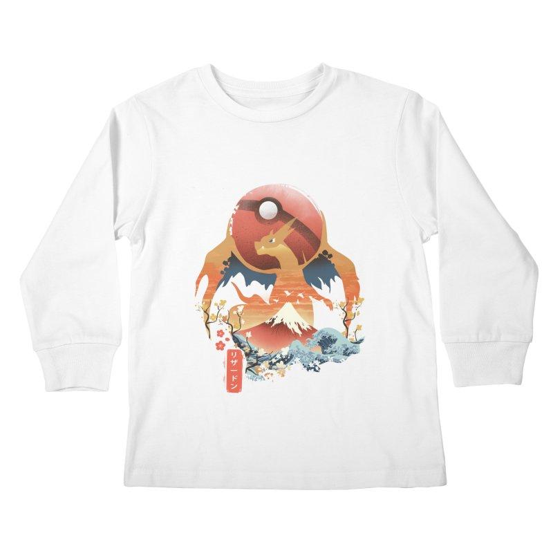 Flame Ninja Kids Longsleeve T-Shirt by dandingeroz's Artist Shop