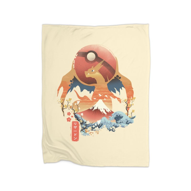 Flame Ninja Home Fleece Blanket Blanket by dandingeroz's Artist Shop