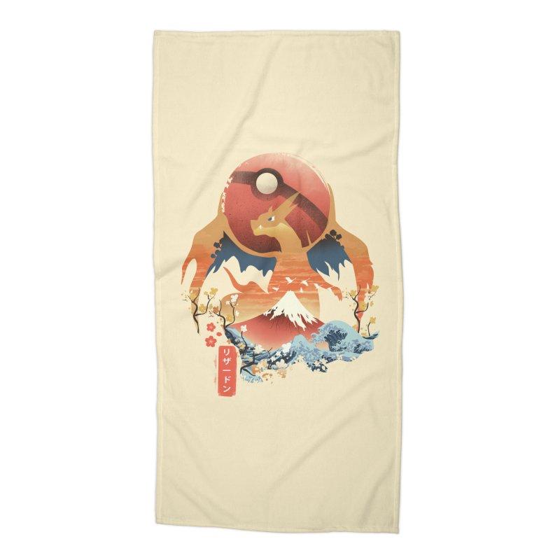 Flame Ninja Accessories Beach Towel by dandingeroz's Artist Shop