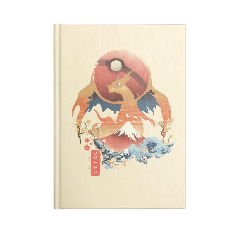 Flame Ninja Accessories Lined Journal Notebook by dandingeroz's Artist Shop