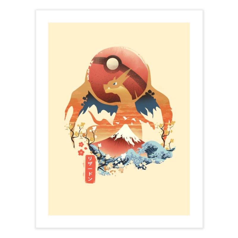 Flame Ninja Home Fine Art Print by dandingeroz's Artist Shop