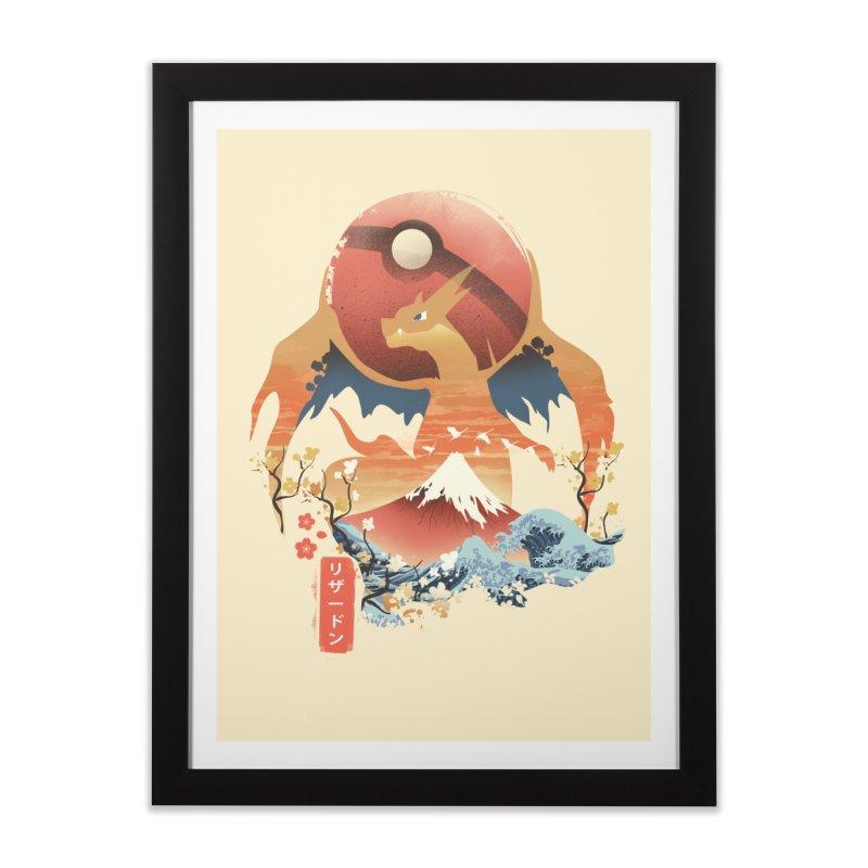 Flame Ninja Home Framed Fine Art Print by dandingeroz's Artist Shop