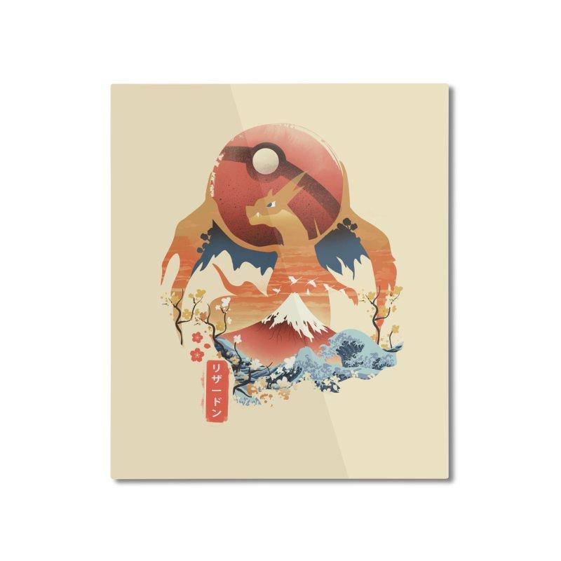 Flame Ninja Home Mounted Aluminum Print by dandingeroz's Artist Shop