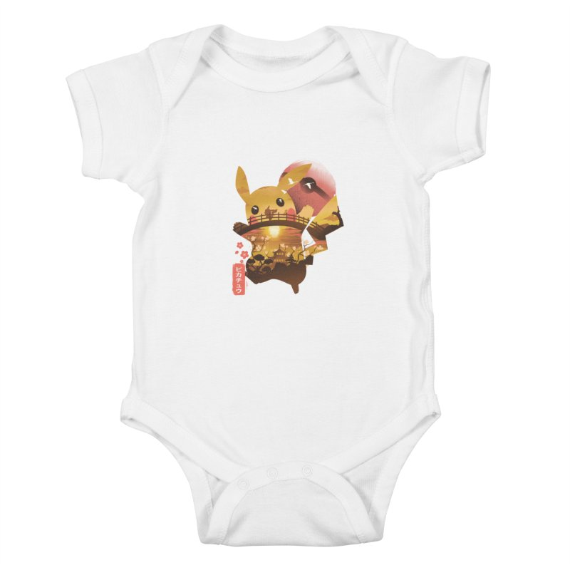Electric Ninja Kids Baby Bodysuit by dandingeroz's Artist Shop