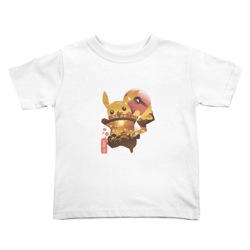 Electric Ninja Kids Toddler T-Shirt by dandingeroz's Artist Shop