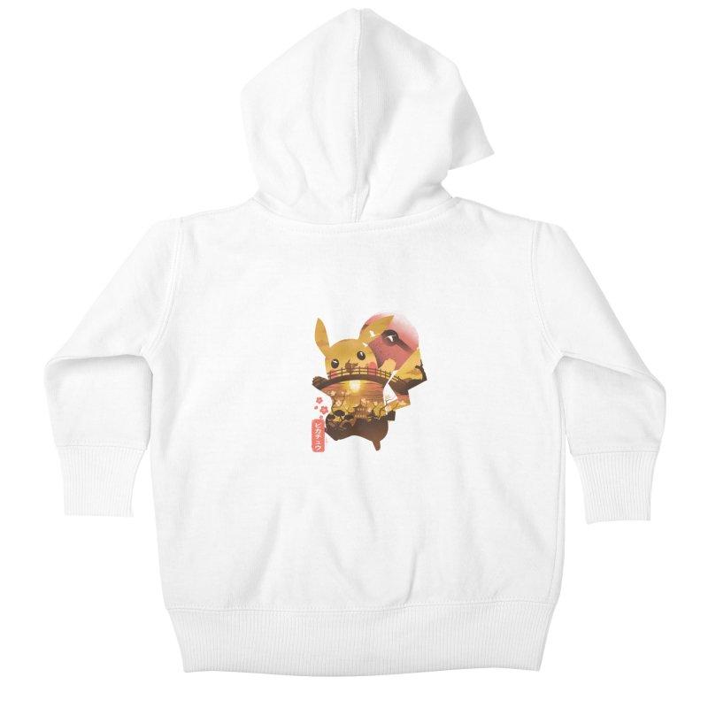 Electric Ninja Kids Baby Zip-Up Hoody by dandingeroz's Artist Shop