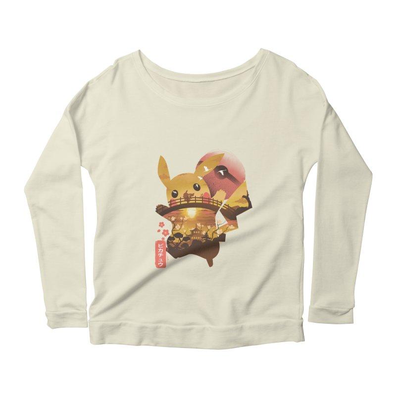 Electric Ninja Women's Scoop Neck Longsleeve T-Shirt by dandingeroz's Artist Shop
