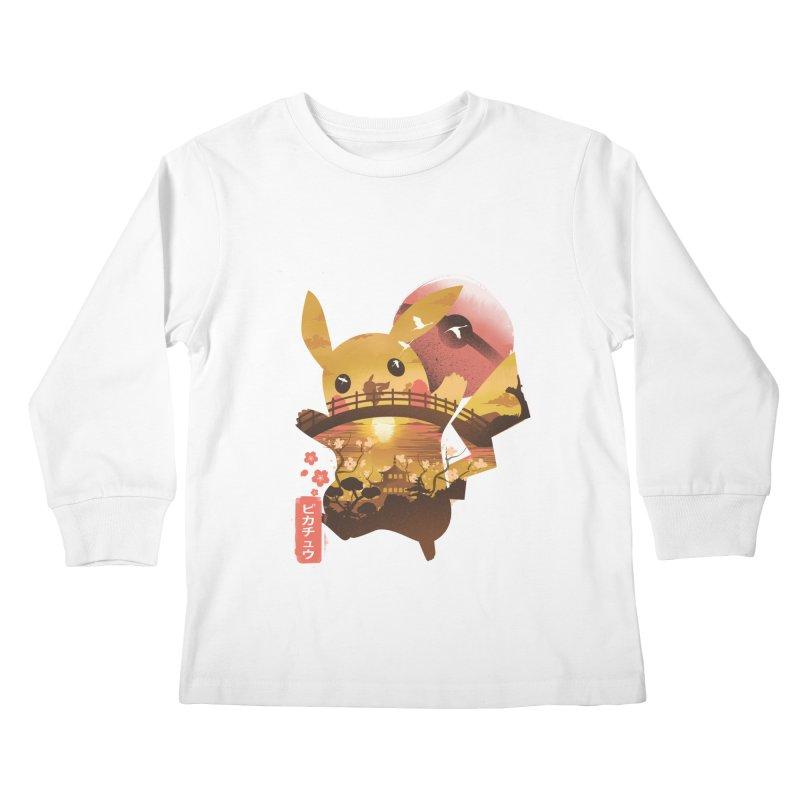 Electric Ninja Kids Longsleeve T-Shirt by dandingeroz's Artist Shop