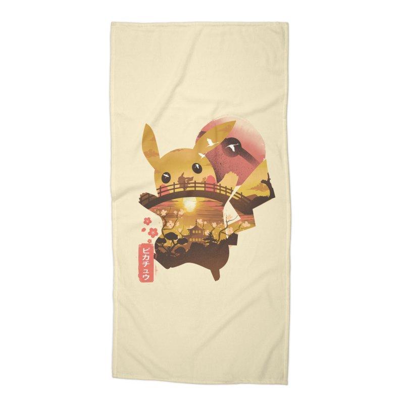 Electric Ninja Accessories Beach Towel by dandingeroz's Artist Shop