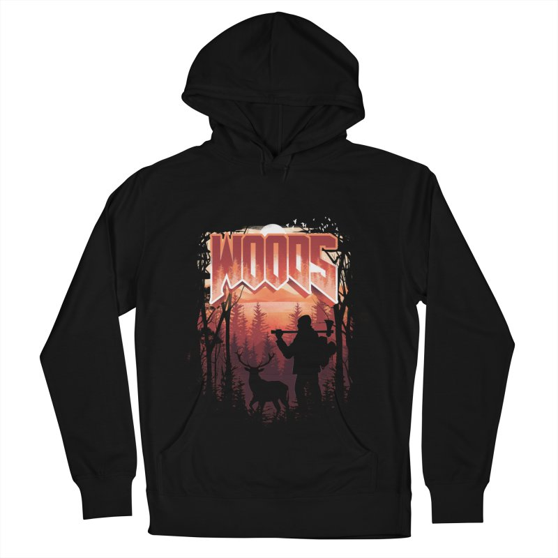 Woods Men's French Terry Pullover Hoody by dandingeroz's Artist Shop