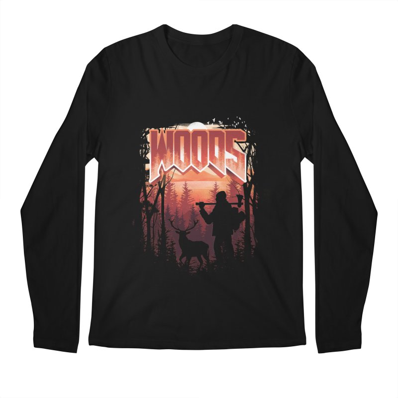 Woods Men's Regular Longsleeve T-Shirt by dandingeroz's Artist Shop