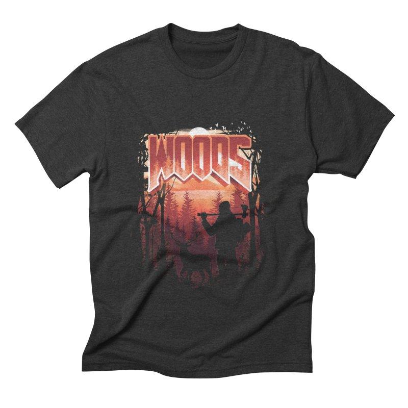 Woods Men's Triblend T-Shirt by dandingeroz's Artist Shop