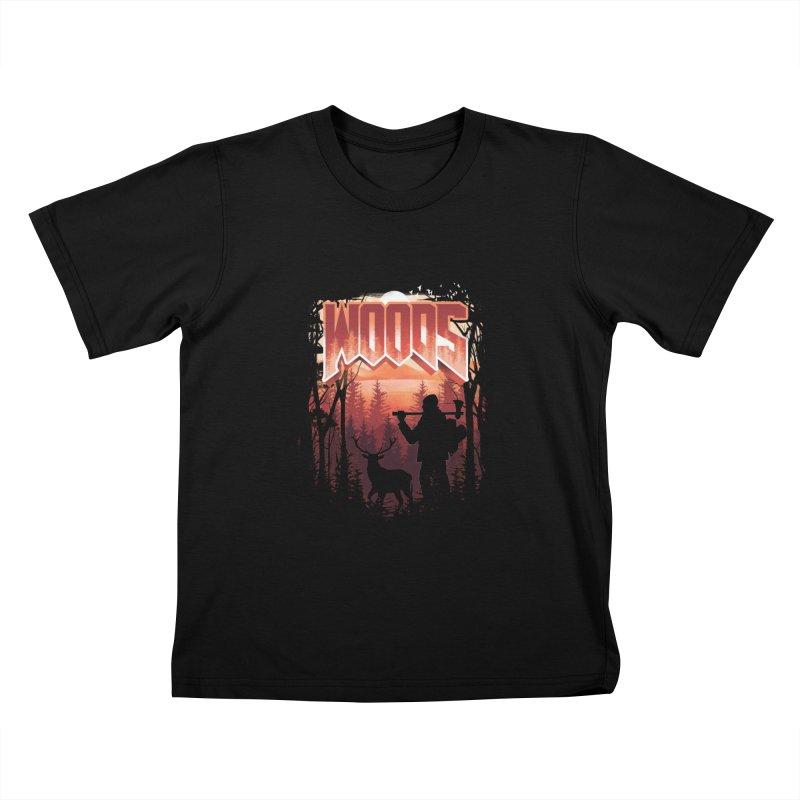 Woods Kids T-Shirt by dandingeroz's Artist Shop