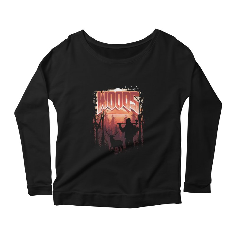 Woods Women's Scoop Neck Longsleeve T-Shirt by dandingeroz's Artist Shop