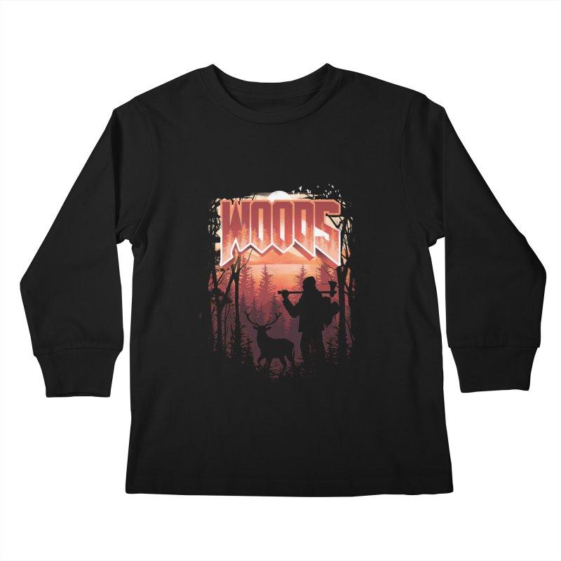 Woods Kids Longsleeve T-Shirt by dandingeroz's Artist Shop