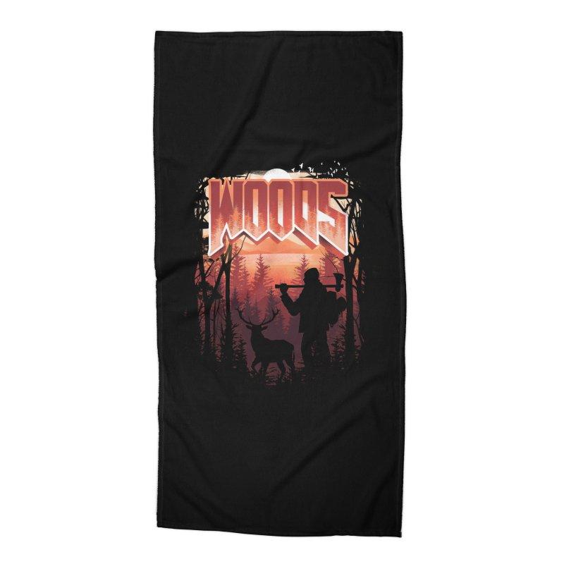 Woods Accessories Beach Towel by dandingeroz's Artist Shop