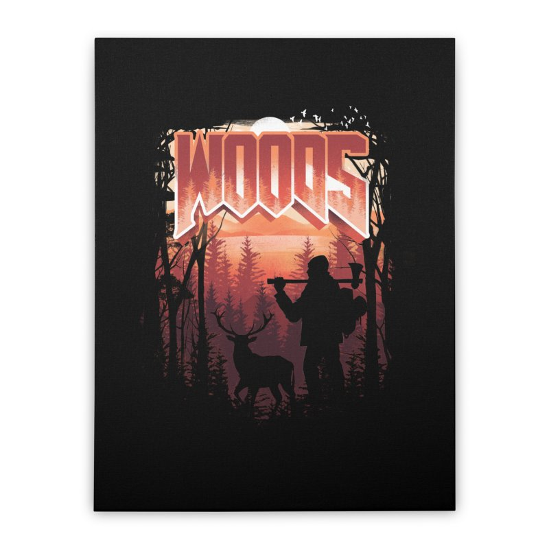 Woods Home Stretched Canvas by dandingeroz's Artist Shop