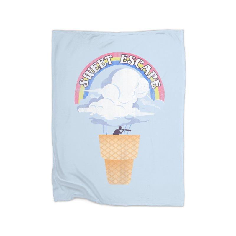 Sweet Escape Home Fleece Blanket Blanket by dandingeroz's Artist Shop