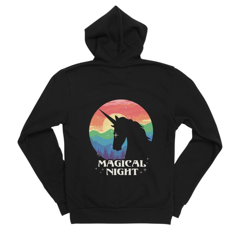Magical Night Men's Sponge Fleece Zip-Up Hoody by dandingeroz's Artist Shop