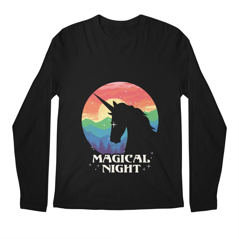Magical Night Men's Regular Longsleeve T-Shirt by dandingeroz's Artist Shop