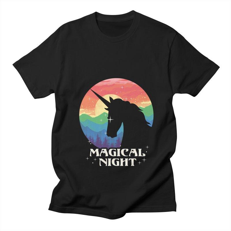 Magical Night Women's Regular Unisex T-Shirt by dandingeroz's Artist Shop