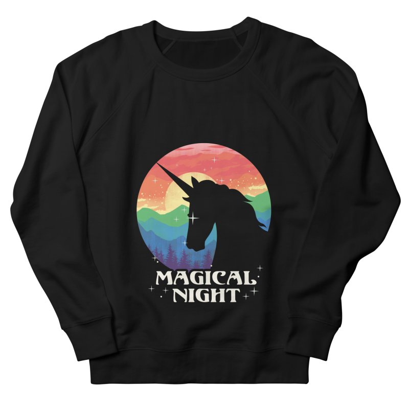 Magical Night Women's French Terry Sweatshirt by dandingeroz's Artist Shop