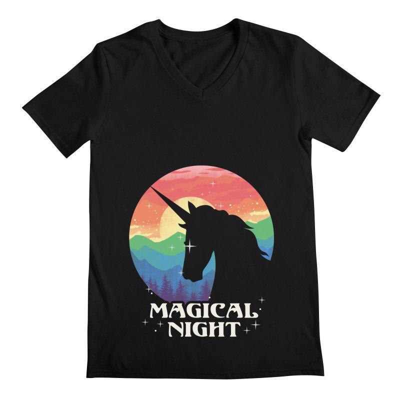 Magical Night Men's Regular V-Neck by dandingeroz's Artist Shop