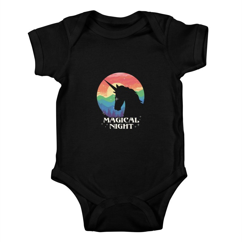 Magical Night Kids Baby Bodysuit by dandingeroz's Artist Shop