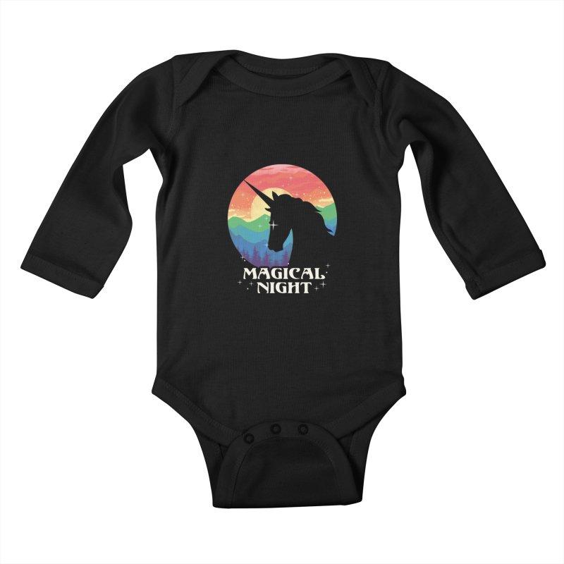 Magical Night Kids Baby Longsleeve Bodysuit by dandingeroz's Artist Shop