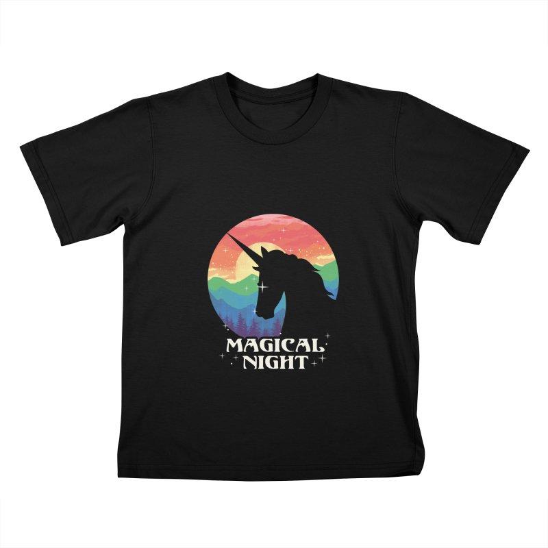 Magical Night Kids T-Shirt by dandingeroz's Artist Shop