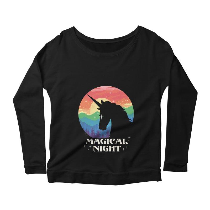 Magical Night Women's Scoop Neck Longsleeve T-Shirt by dandingeroz's Artist Shop