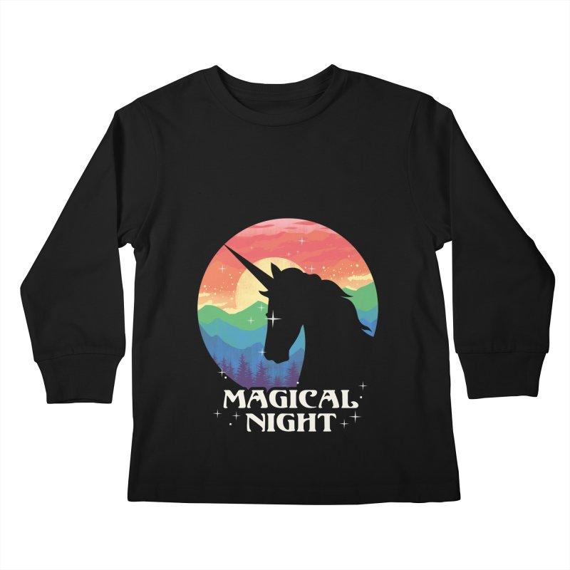 Magical Night Kids Longsleeve T-Shirt by dandingeroz's Artist Shop