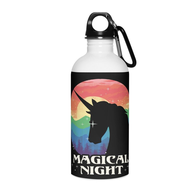 Magical Night Accessories Water Bottle by dandingeroz's Artist Shop
