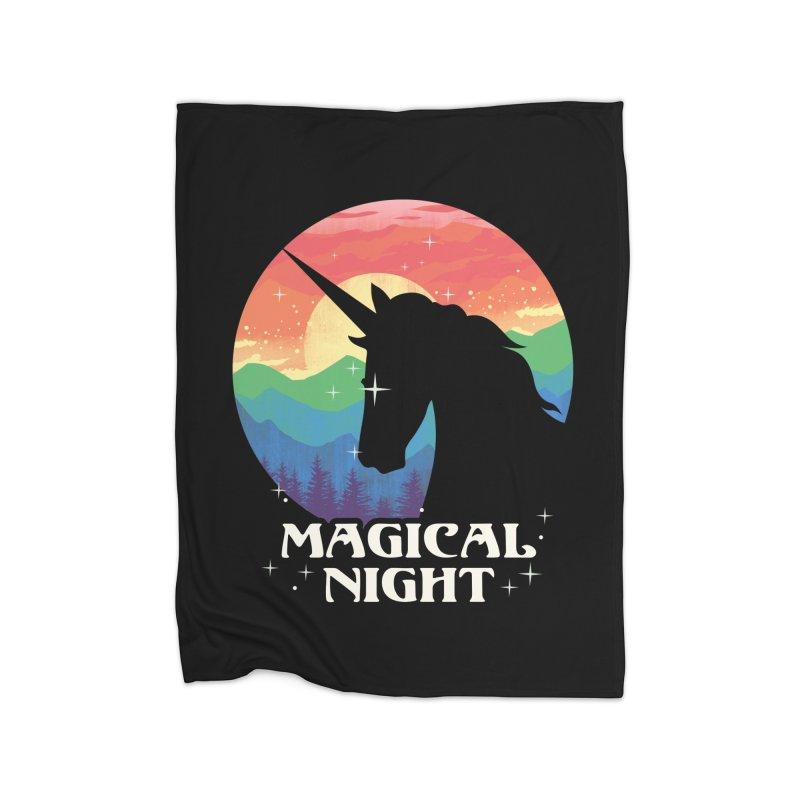 Magical Night Home Fleece Blanket Blanket by dandingeroz's Artist Shop