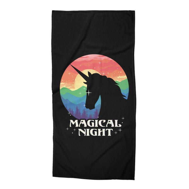 Magical Night Accessories Beach Towel by dandingeroz's Artist Shop